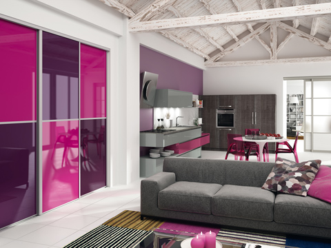 Salon violet et blanc free deco noir et blanc salon et cuisine salle a manger with salon violet - Chambre violet et blanc ...
