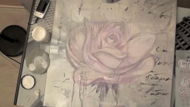 Comment peindre une rose effet aquarelle dessin art musique