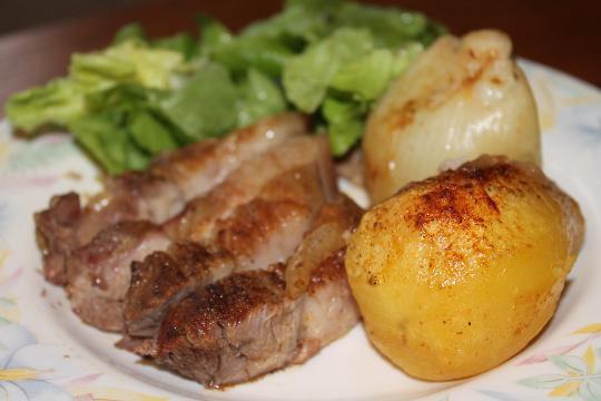 recette : rouelle de porc rôtie au four - plats - cuisine - vins