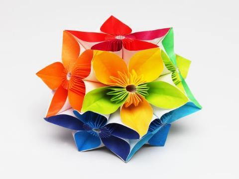 créer des fleurs en papier crépon géantes - déco - maison - jardin