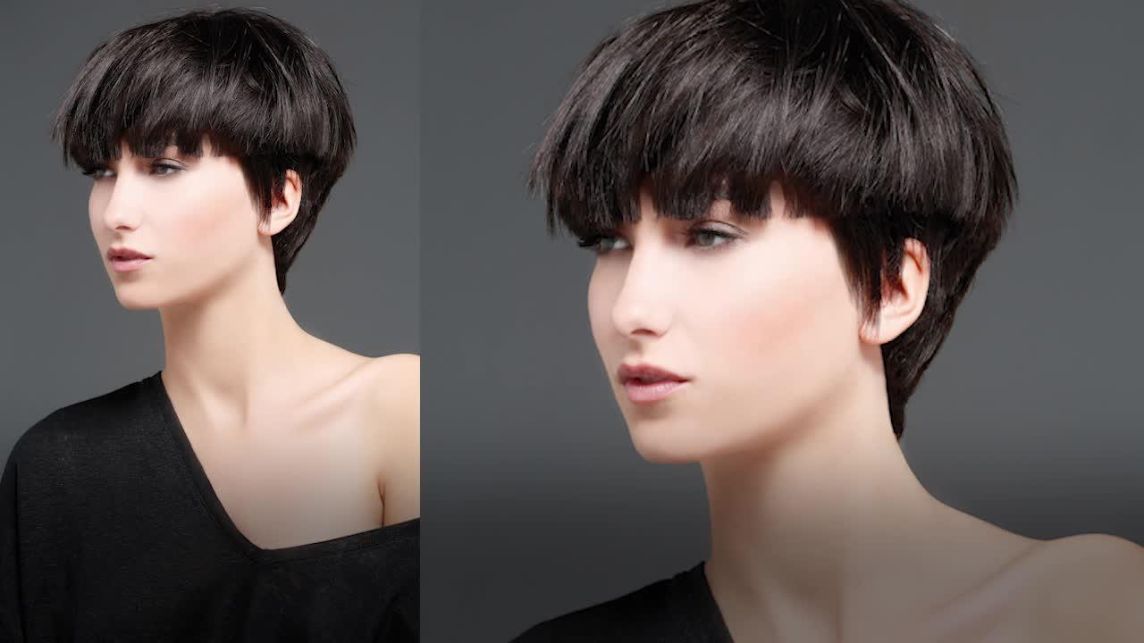 Coupe de cheveux femme courte au bol