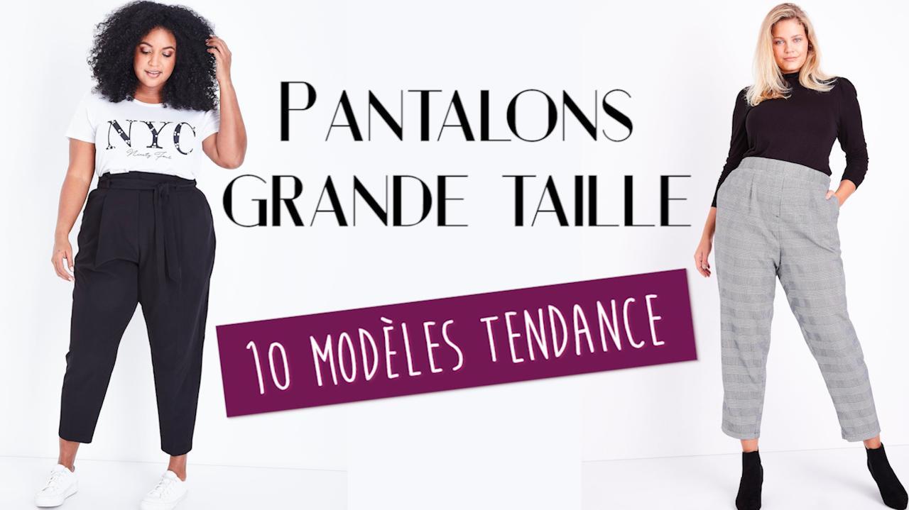 39431803bde331 FEMME ACTUELLE - Pantalon grande taille : 10 modèles tendance pour mettre  en valeur les rondeurs